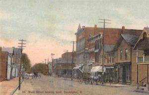 Cardington Ohio Main Street Scene Historic Bldgs Antique Postcard K85592