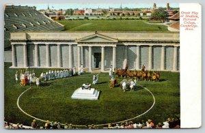Cambridge MA~Harvard College Stadium~Greek Play Actors~Spectators~c1910 Postcard