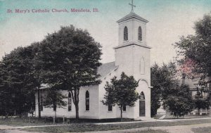 MENDOTA, Illinois, 1900-10s; St. Mary's Catholic Church
