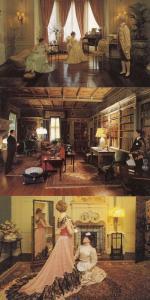 Warwick Castle Madame Tussauds Victorian Party Fashion Waxwork 3x Postcard s