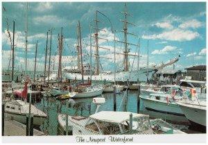 Newport Waterfront Tall Ship Gloria Rhode Island Harbor Boats Vtg Postcard