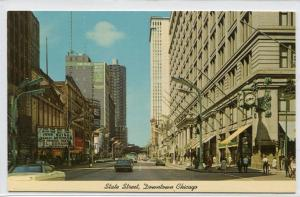 State Street Looking North Chicago Illinois postcard