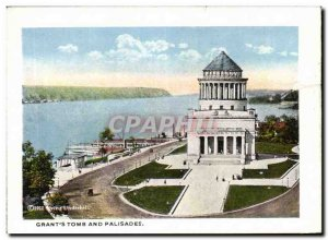 Postcard Old New York Grant & # 39s Tomb And Palisades Hudson Terminal and Me...