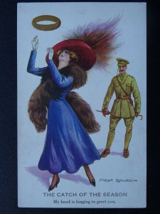 WW1 Golden Ring THE CATCH OF THE SEASON Artist Fred Spurgin c1917 Postcard