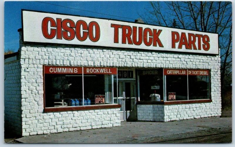 Bay City, Michigan Postcard CISCO TRUCK PARTS Store Front