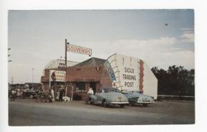 Ogallala NE Sioux Trading Post on US 30 Old Cars Postcard