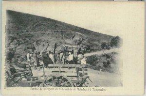 80164 -  MADAGASCAR -  Vintage Postcard - Transport from MAHATSARA to TANANARIVE
