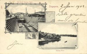 singapore, Multiview, Kallang River, Dry Dock Tanjong Pagar (1903)