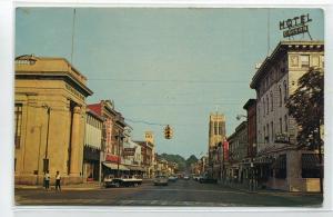 Market Street Edison Hotel Cars Sunbury Pennsylvania postcard