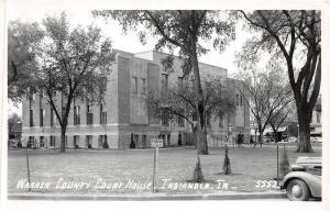 B18/ Indianola Iowa Ia Real Photo RPPC Postcard c1950 Waren County Court House