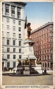 Canada, Maisonneuve Monument Montreal, Statue