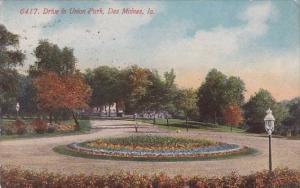 Drive In Union Park Des Moines Iowa 1914