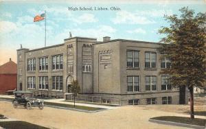 F20/ Lisbon Ohio Postcard Columbiana c1910 High School 2