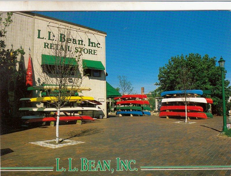 P1762 RPPC vintage maine L.L. Bean inc retail store posrcard