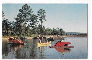 Ida Cason Callaway Gardens Lake Paddle Boats Canoes Pine Mounti Georgia Postcard