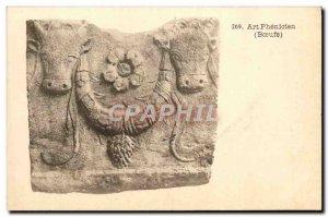 Old Postcard Art Phenicien Oxen