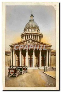 Old Postcard The Small Paintings of Paris Pantheon Old church Sainte Genevieve