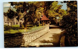 Church Lane Whitburn West Lothian Scotland Vintage Postcard D51