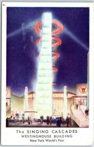 1939 New York World's Fair Expo Postcard THE SINGING CASCADES Westinghouse