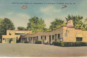 PITTSBURG, Huff's De Luxe Cabins, Kansas, 30-40s