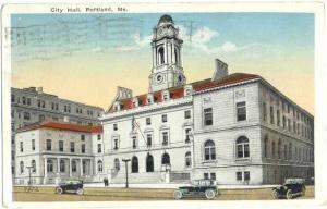 City Hall, Portland, Maine, ME, 1920 White border