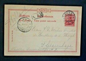 1902 Bonn Germany To The Hague s Gravenhage Holland Vintage Postcard