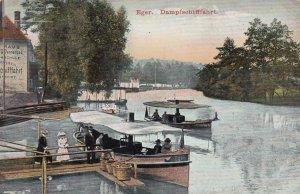EGER , Hungary , 1911 ; Dampfschifffahrt
