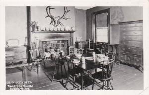Maine Ellswworth The Black House The Old Kitchen Real Photo