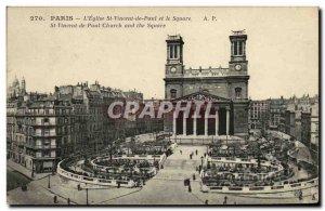 Old Postcard The Church Paris Saint Germain