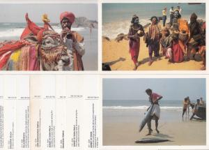 Lot 11 postcards all GOA India scenes & types