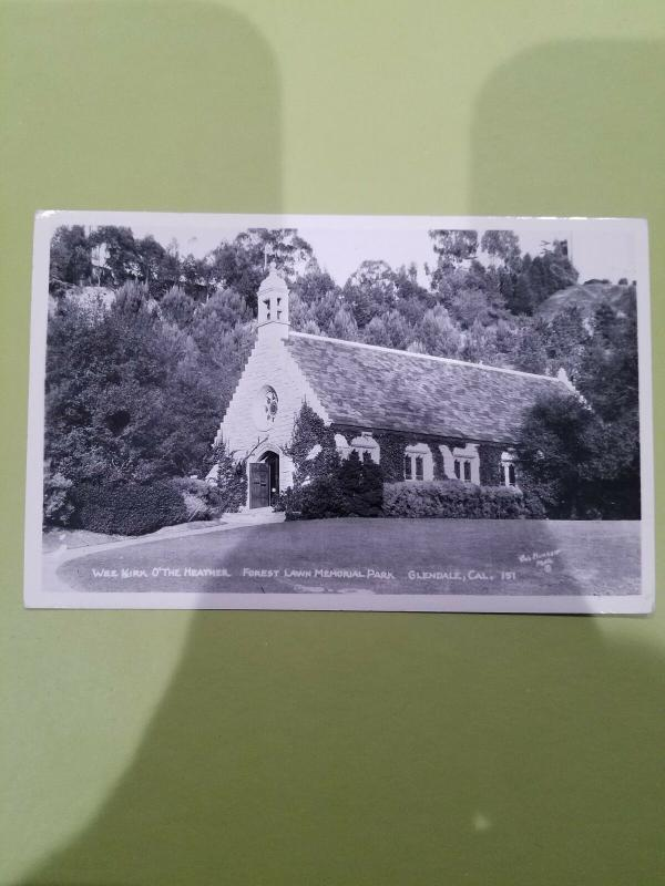RPPC, Wee Kirk O'The Heather, Forest Lawn Memorial Park, Glendale, California