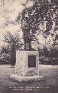 New York Saint Johnsville Civil War Memorial Monument In Margaret Reaney Memo...