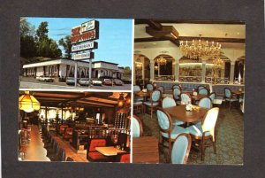 NY Six Brothers Blue Fountain Restaurant Yonkers New York Postcard
