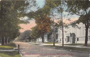 Muskegon Michigan~Hackley Art Institute & Library~Street View~1915 Postcard