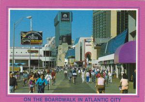 Bicyclers and Pedestrians on the Boardwalk Atlantic City New Jersey