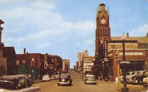 Moline Illinois~Downtown~Pontiac Car Dealer~Jim Kittler Motors~Nice 1950s Cars