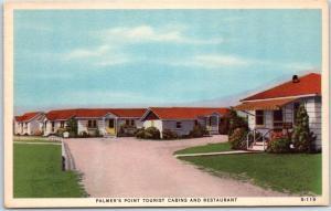 Stevensville, Ontario Canada Postcard PALMER'S POINT TOURIST CABINS & Restaurant