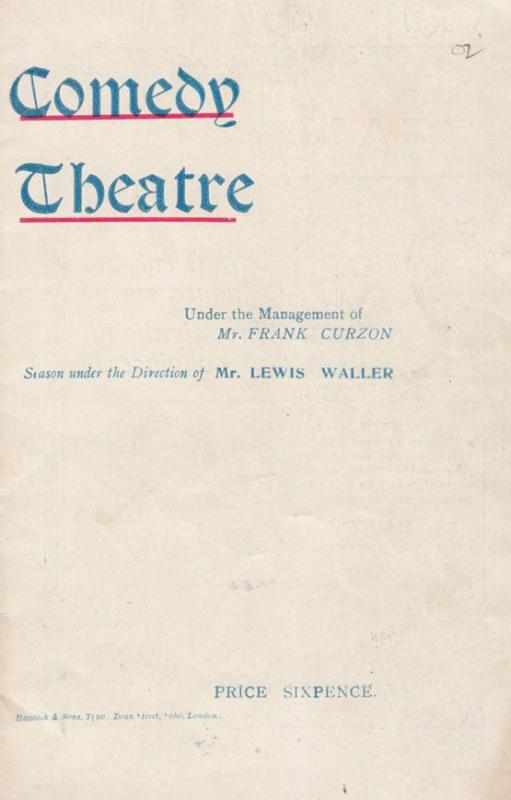 Monsieur Beaucaire Lewis Waller London Comedy Theatre Antique Old Programme