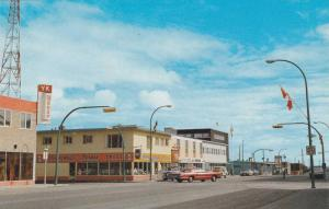Downtown Street view, Yellowknife , N.W.T. , 50-60s Rexall Drug Store