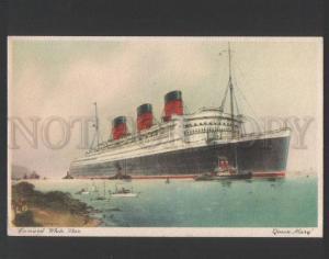 120432 Cunard White Star Lane QUEEN MARY Ocean Liner Vintage