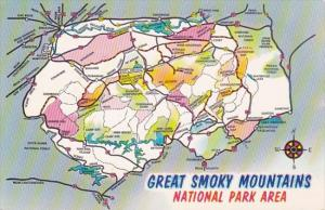 Map Of The Great Smoky Mountains National Park Area
