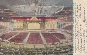 KANSAS CITY, Missouri, 1907; Interior of Convention Hall, as arranged for The...
