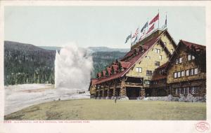 Old Faithful and Old Faithful Inn, Yellowstone Park, 1900-10s
