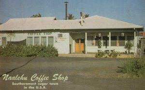 Big Island , Hawaii, 1950-60s ; Naalehu Coffee Shop