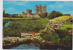 Woman in Rowboat on the River Boyne at King John's Castle, Trim, Co. Meath, I...