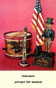 Pennsylvania Philadelphia Perelman Antique Toy Museum Showing Uncle Sam Old D...