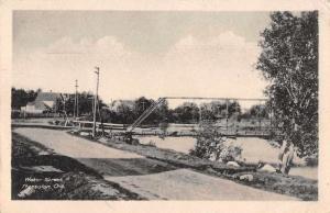Thessalon Ontario Canada Water Street Bridge Antique Postcard J77068