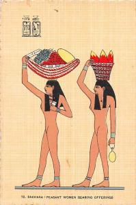 Egypt Sakkara Peasant Women bearing Offerings, Saqqara