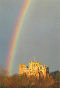 Ripon Cathedral Amazing Yorkshire Rainbow Postcard