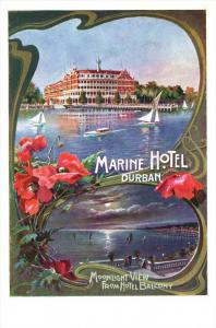 1895 South Africa Durban   Marine Hotel , View of Harbour and Hotel